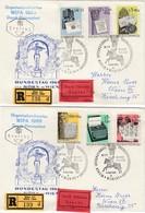 ÖSTERREICH 1965 - MiNr: 1184-1187 Komplett  FDC-Reko Beleg Mit WIPA SStmp. - FDC