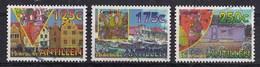 Nederlandse Antillen - Carnaval - Handelskade Willemstad/drijvende Markt/huisje Met Maishalmendak -gebruikt- NVPH1080/82 - Carnaval