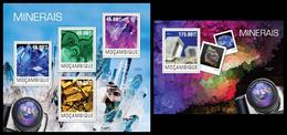 Mozambique 2014, Minerals, Klb + S/s MNH - Minéraux