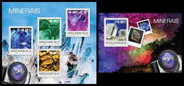 Mozambique 2014, Minerals, Klb + S/s MNH - Minerals