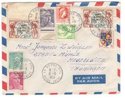12842 - Pour L'Allemagne - Poststempel (Briefe)
