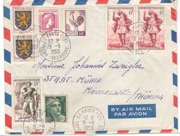 12845 - Par Avion Pour L'Allemagne - Poststempel (Briefe)