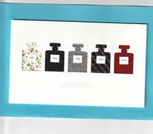 CHANEL  Superbe Carte  De VOEUX 2019  Avec Son Enveloppe - Perfume Cards