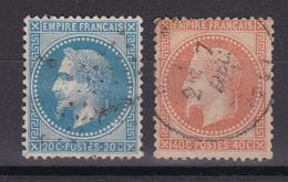 FRANCE/NAPOLEON N° 29/31  OBLITERE - 1863-1870 Napoleon III With Laurels