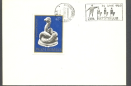 75074- TEACHER'S DAY SPECIAL POSTMARK ON COVER, GLYKON SNAKE ANCIENT STATUETTE STAMP, 1980, ROMANIA - 1948-.... Républiques