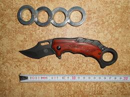 Couteau Pliant Karambit Et Bague De Self Défense - Armes Blanches