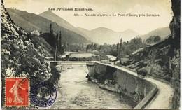 4925 - Htes Pyrennes - Vallée D'ASPE : Le Pont D'Escot Prés Sarrance - + Cachet Du Vapeur GIRONDE - Circulée En 1907 - Frankreich