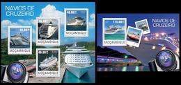 Mozambique 2014, Cruise Ships, Klb + S/s MNH - Boten