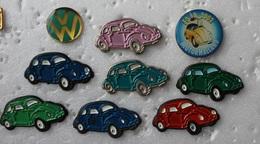 9 Pin's  Volkswagen VAG . COCCINELLE . COX - Volkswagen