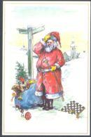 75199- SANTA CLAUS, MUSHROOMS, GIFTS, CHESS, GAMES, WINTER LANDSCAPE - Schach