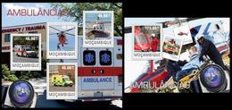 Mozambique 2014, Rescue Vehicles, Klb + S/s MNH - Cars