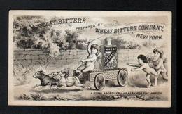 Carte Publicitaire 13 X 7,5 Cm, Wheat Bitters Company, New-York, Avec Attelage De Chiens - Vieux Papiers