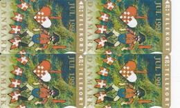 Denmark, KS033, FS013, JS027 And TS 015, Christmas 1994, Set Of 4 Cardsm 2 Scans.  Please Read - Denmark