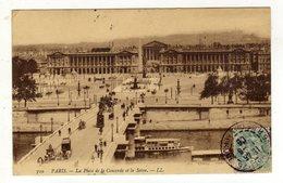 Cpa N° 710 PARIS La Place De La Concorde Et La Seine - El Sena Y Sus Bordes
