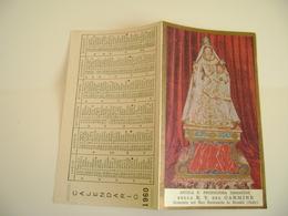 CALENDARIETTO 1960 BEATA VERGINE DEL CARMINE CHE SI VENERA NEL SUO SANTUARIO IN RIMINI  CALENDARIO CALENDRIER - Calendars