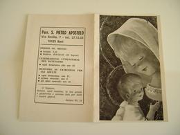 1976 Bari Parrocchia S. Pietro Apostolo  CALENDARIETTO CALENDARIO CALENDRIER - Calendars