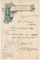 Factuur / Brief Brannberg - Braniewo Polen 1892 - Erich Fuhlmann - Buchbinderei - Devotionalien Handlung - 1800 – 1899