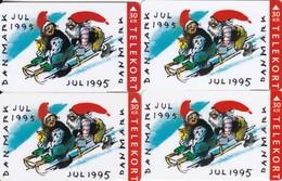 Denmark, KS049, FS018, TS031 And JS 035, Christmas 1994, Set Of 4 Cards, 2 Scans.  Please Read - Denmark