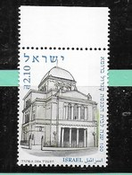 ISRAEL - 100° SINAGOGA DI ROMA - NUOVO ** - (YVERT 1711 - MICHEL 1785) - Israele
