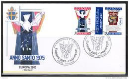 CEPT 2003 VA MI 1459-60 FDC VATICAN - Europa-CEPT