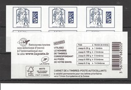 Carnet** Marianne De Ciappa Bleu Europe - Usage Courant