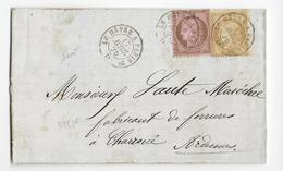 1876 - SEINE INFERIEURE - LETTRE Avec AMBULANT LE HAVRE à PARIS => CHARROUE (ARDENNES) - 1849-1876: Periodo Classico