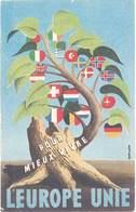 Cpa Pub L'Europe Unie Pour Mieux Vivre – Signée Guellien      (PUB) - Advertising
