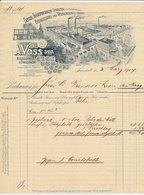 Factuur / Brief Sarstedt 1907 - A. Voss - Eisengiesserei - Vernickelungs Anstalt - Allemagne
