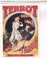 PUBLICITE CYCLES TERROT DIJON  PIN UP - Advertising