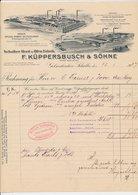 Factuur / Brief Gelsenkirche-Schalke 1907 - Kuppersbusch - Fabrik Fur Kochapparate - Allemagne