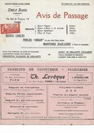 2 Buvards - Bijouterie - Joaillerie - Paris - Buvards, Protège-cahiers Illustrés
