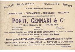 Buvard - Bijouterie - Joaillerie - Romainville - Buvards, Protège-cahiers Illustrés
