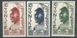 "Tunisie YT 346 à 348 "" Hermès De Berbère "" 1950-51 Neuf* - Tunisia (1888-1955)"