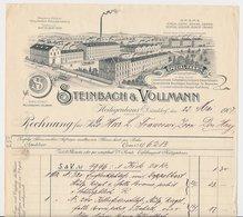 Factuur / Brief Heiligenhaus 1907 - Steinbach & Vollmann - Special Fabrik - Allemagne