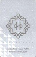 ISRAELE KEY HOYEL   Herbert Samuel - GERUSALEMME - Hotel Keycards
