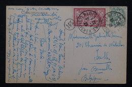 FRANCE - Affranchissement De Blois Sur Carte Postale Pour La Belgique En 1925 , Cachet De Facteur ( 145) - L 21150 - Marcophilie (Lettres)