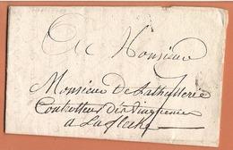 Lettre Paris 26 Octobre 1779 Destination ( Laflèche ) - 1701-1800: Précurseurs XVIII