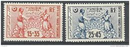 "Tunisie YT 335 & 336 "" Fonds D'entraide "" 1950 Neuf** - Tunisia (1888-1955)"