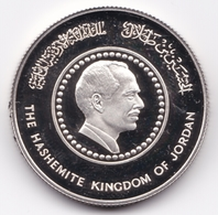 Jordan,10 Dinar Silver 1985, 50th Anniversary - Birth Of King Hussein Of Jordan UNC - Jordan