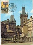 41503 Ceskoslovensko, Maximum 1968,  Architecture,  Old City And Tower Of Prague Unesco World Heritage, - Tsjechoslowakije