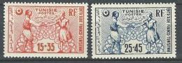 "Tunisie YT 335 & 336 "" Fonds D'entraide "" 1950 Neuf* - Tunisia (1888-1955)"