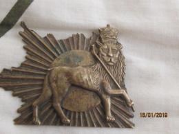 Ethiopia: Badge With Lion Of Judah - Insignes & Rubans