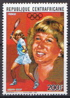 Central Africa MNH Stamp, Steffi Graf - Summer 1988: Seoul