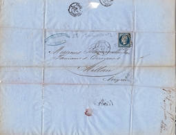 Paris 1854 EUGÈNE FABREGUETTES Fils Et MORRA Faubourg Saint Denis Aveyron Millau Tanneur Tannerie BEAUMEVIEILLE - 1853-1860 Napoléon III