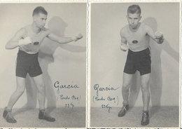 Cartes Photographies Anciennes < LE BOXEUR < GARCIA - POIDS COQ (53kg) - Boxing