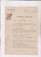 CONTRAT STE PYRENEENE D ENERGIE ELECTRIQUE ELAGAGE, ABATAGE En 1915! - France