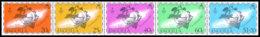 Anguilla, 1974, Centenary Of The UPU, United Nations, MNH Strip, Michel 198-203 - Anguilla (1968-...)