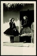 Ref 1261 - Ethnic Real Photo Postcard - Girls At Door - Szugy Hungary - Hungary