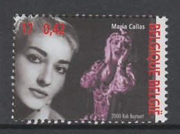 TIMBRE NEUF DE BELGIQUE - LA CANCATRICE MARIA CALLAS N° Y&T 2957 - Famous Ladies