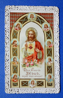 IMAGE PIEUSE  CANIVET .........DOUX CŒUR DE JÉSUS...ENTOURE DE 10 ANGES - Devotion Images